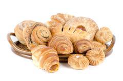 Bakery foodstuffs set - stock photo
