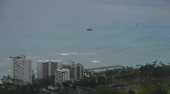 Waikiki beach with hotels Hawaii united states Stock Footage