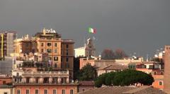 Types of Rome. Residential neighborhoods Stock Footage