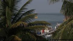 Tropical paradise, Belize beauty shot Stock Footage
