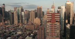 New York City skyline aerial timelapse pan, 4K DCI Ultra HD Stock Footage