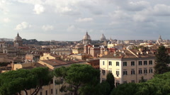 Rome skyline from the Capitoline Hill. Italy Stock Footage