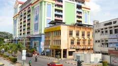Street view in Kuching Stock Footage