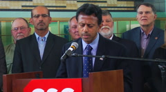 Louisiana Governor Bobby Jindal (R) Stock Footage