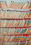 Medical Records folders. - stock photo