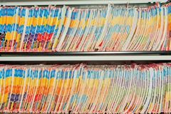 Medical Records folders. - stock photo