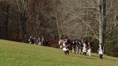 Slow motion 4K, Revolutionary War reenactment Stock Footage