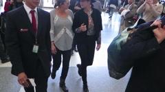 Marion Cotillard at LAX Stock Footage