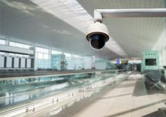 Security camera watching all zones Stock Photos