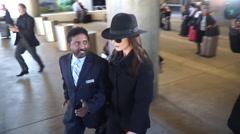 Catherine Zeta-Jones at LAX - stock footage