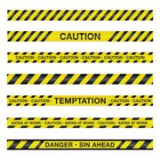 Spiritual Caution Tape Illustration - stock illustration