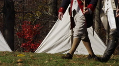 Revolutionary War reenactment, slow motion UHD 4K Stock Footage