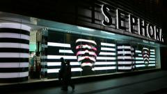 Sephora store in Kuala Lumpur Stock Footage
