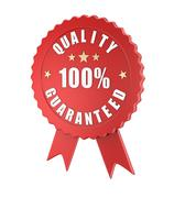 Quality guaranteed - stock illustration