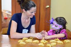 Hamantaschen cookie cooking in Purim Holiday - stock photo