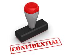 Rubber stamp - confidential - stock illustration