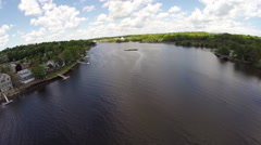 Saugatuck River aerial footage Stock Footage
