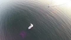 Boating aerial beauty shot Stock Footage