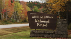 White Mountain National Forest exterior signage 4K UHD Stock Footage