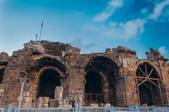 Ancient amphitheatre Stock Photos