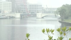 Foggy Hillsborough River Stock Footage
