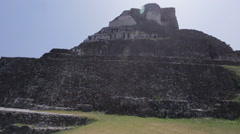 The Xunantunich temple in Belize Stock Footage