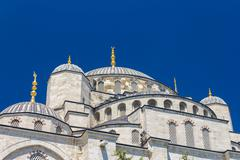 Blue Mosque domes - stock photo