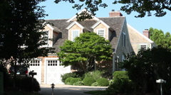 Exteriors of a luxury home in East Hampton, NY Stock Footage