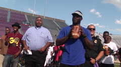 Michael Vick at youth football camp, 1080p HD Stock Footage