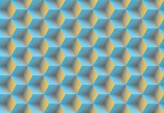 Seamless 3d pattern - stock illustration