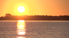 Beautiful sunrise slowmotion lake Stock Footage