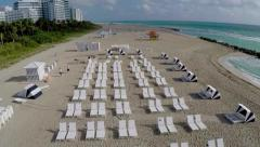 Aerial Miami Beach 30th Street Shoreline Clip 11 Stock Footage