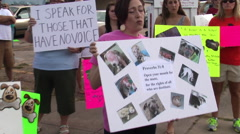 Michael Vick protesters Stock Footage
