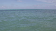 Open waters in the Caribbean Sea, Belize beauty shot Stock Footage