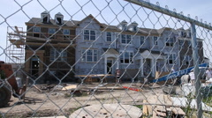 New townhomes under construction, 1080p HD Stock Footage