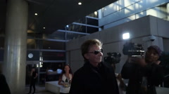 Barry Manilow at LAX Stock Footage