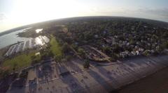 360 birdeye view aerial footage Stock Footage