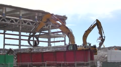 Demolition Miami Herald 2 Stock Footage