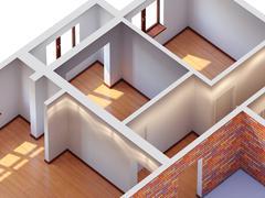 House interior planning Stock Illustration
