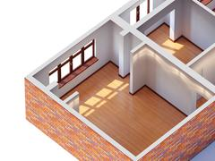 House interior planning - stock illustration