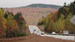Establishing shot of cars driving on a New Hampshire highway 4K UHD Stock Footage
