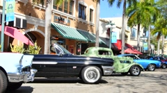 Hollywood FL Antique car show Stock Footage