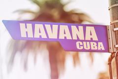 Havana Cuba Street Sign Stock Photos