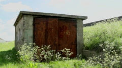 Old shed on Canvey Island, Essex, United Kingdom Stock Footage