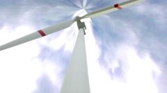 Wind turbine aerial animation, 4K UHD Stock Footage