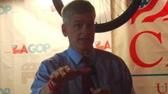 Louisiana Congressman and Republican Senate candidate, Bill Cassidy (R) - stock footage
