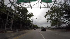 Downtown Miami highway entrance Stock Footage