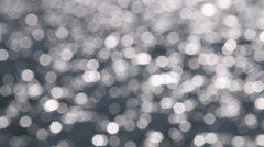 Bokeh soft focus water reflections Stock Footage