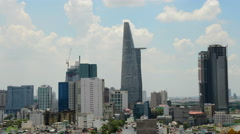 Time Lapse of Clouds and Shadows Passing over Ho Chi Minh City (Saigon) Stock Footage