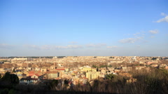 Rome at sunset. Italy. 4K Stock Footage